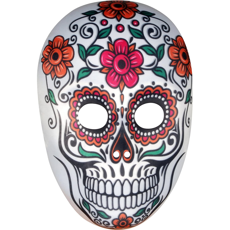 Star Power Women Day of the Dead Sugar Skull Face Mask ...