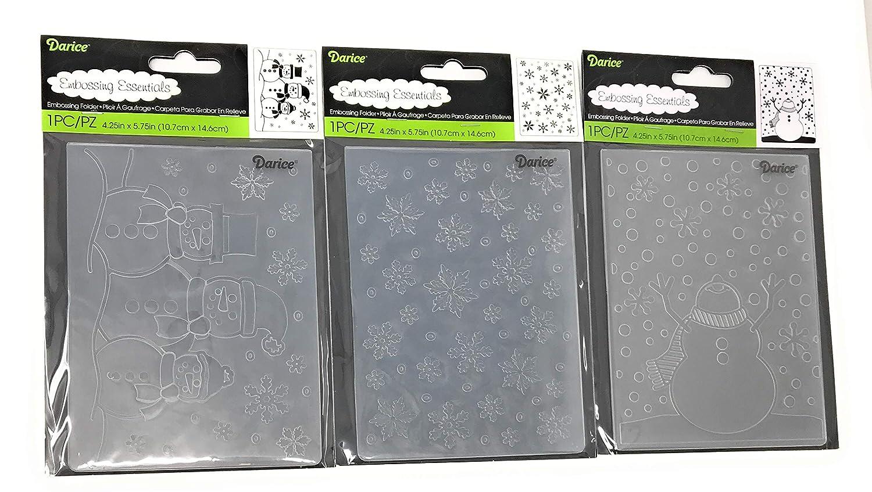 SNOWFLAKE 4.25 x 5.75 Darice Embossing Folder Background Winter 1215-58