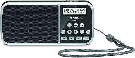 TechniSat Viola 2 S tragbares DAB Radio DAB+, UKW, Kopfh/öreranschluss, AUX-In, zweizeiliges Display, Tastensteuerung, 4 Watt RMS, Stereo Lautsprecher wei/ß//schwarz
