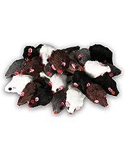 Europet Bernina EBI Echtfell-Spielzeugmaus, ideale Beschäftigung für Katzen, Fellmäuse im Set, je 5 cm
