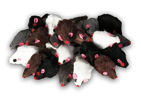 Ratón de pelo real de EBI, juguete ideal para gatos, ratones de piel en