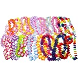 Oojami Jumbo Party Bag ~ Tropical Hawaiian Luau Lei Styles (50 ct) ~ Party Favors