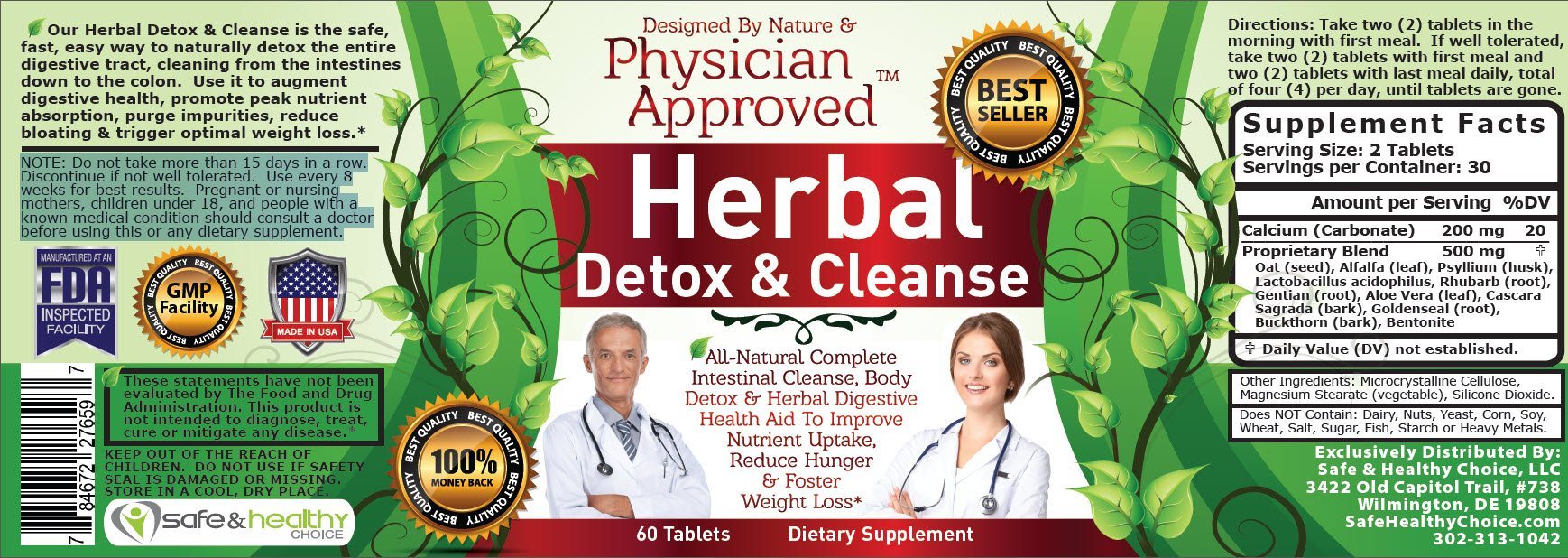 Colon Cleanse And Complete Herbal Cleanse Formula