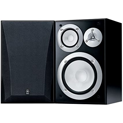 Yamaha NS 6490 3 Way Bookshelf Speakers Finish Pair Black