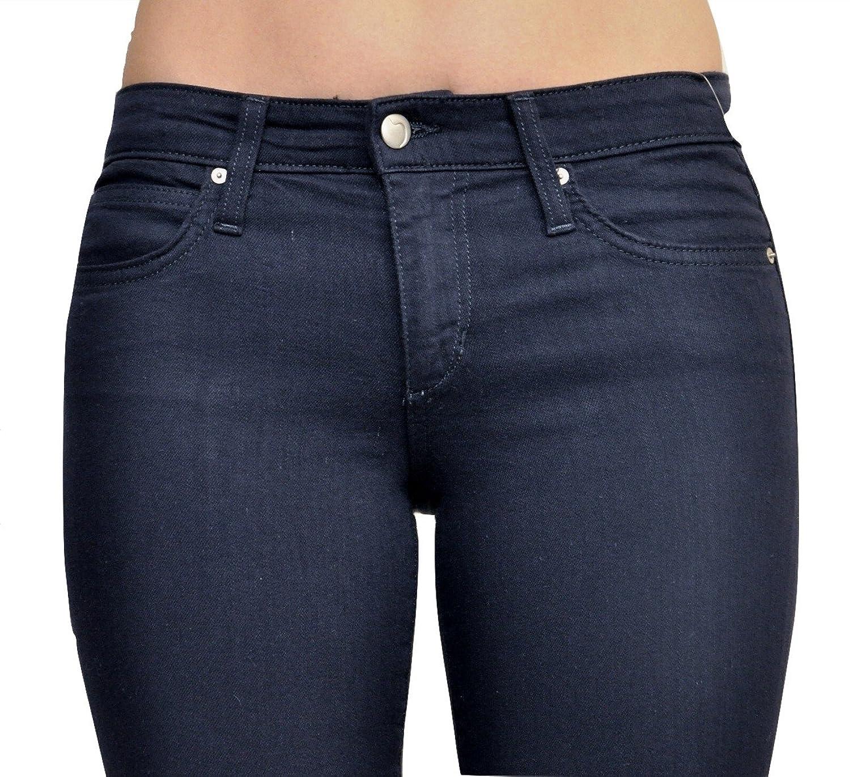 Joe's Jeans Flawless Mid Rise Skinny Stretch Denim Pants Navy 26