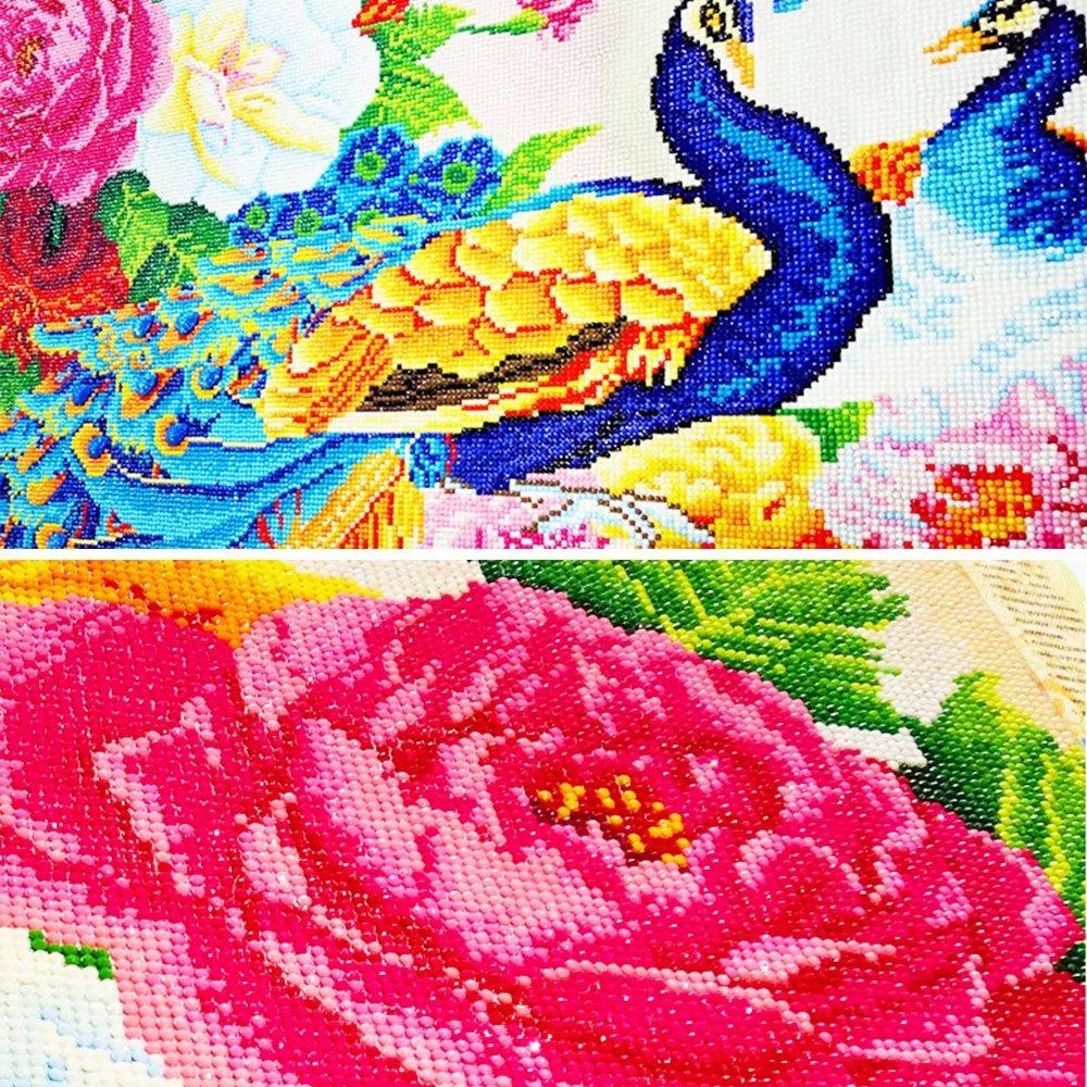 violet S 5d DIY Violet lavande Mer de fleurs livre Diamant Paysage de peinture kit complet Strass Broderie Peinture DIY point de croix Diamant rond D/écoration murale faite /à la main Needlework