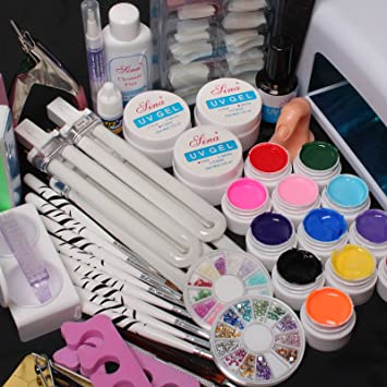 Amazon Hot Sale 25 In 1 Professional Nail Art Set 12 Color Pure