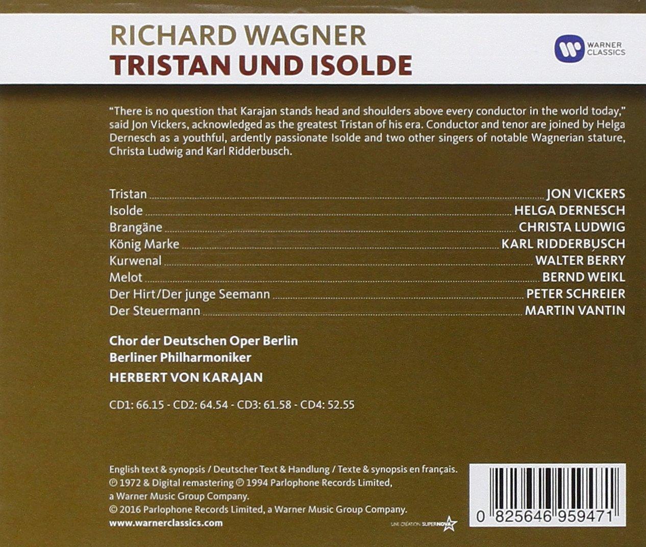 Tristan und Isolde - Herbert Von Karajan, Vickers, Ludwig, Richard ...