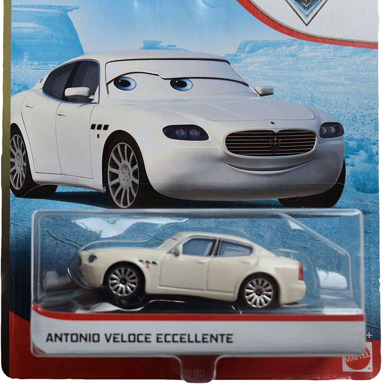 White Pixar Disney Cars 1:55 Scale Antonio Veloce Eccellente Radiator Spring
