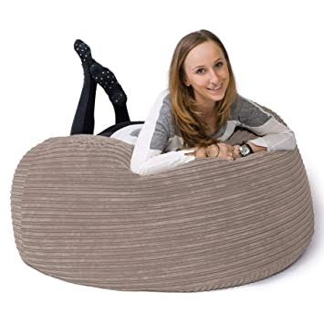 Lounge Pug Cord Large Bean Bag For Adults Mammoth Giant