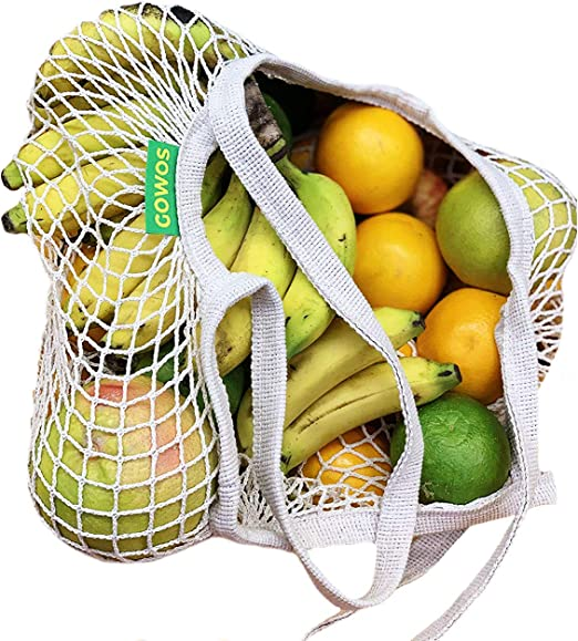 Reusable Grocery Shopping Bag Fruit Vegetable Mesh Washable String Eco Friendly,