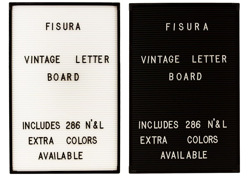 Buchstabentafel Pinnwand inkl. 286 Buchstaben und Zahlen in schwarz oder weiß (Weiß)