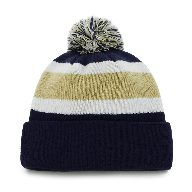 d7d811b4fae ... amazon nfl chicago bears 47 brand breakaway cuff knit hat with pom navy  one size sports ...
