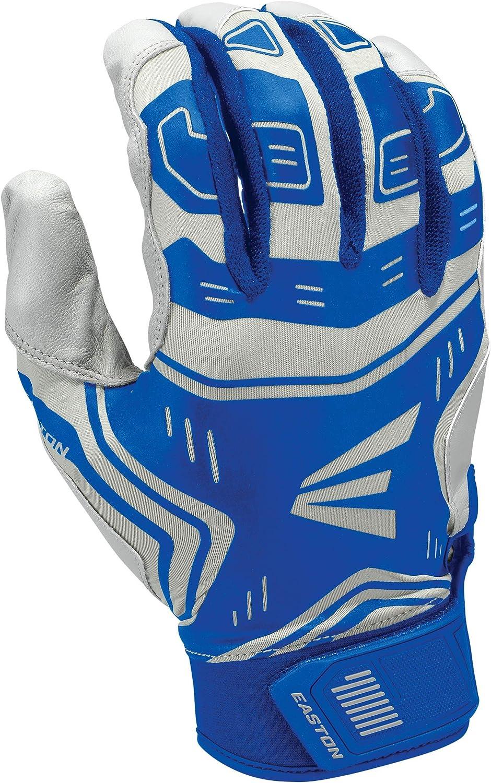 2020 X Large Flexible Lycra Royal//Grey VRS Pad Reduces Vibration /& Blisters Easton VRS Power Boost Batting Glove Adult Tacky Palm Comfort Neoprene Strap Baseball Softball Pair