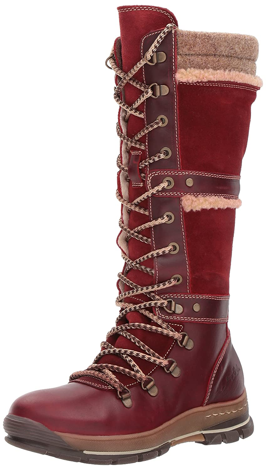 Bos. & Co.. Women's Gabriella Snow Boot B06WWCPF41 40 M EU (9-9.5 US)|Red/Scarlet/Beige Gaucho/Suede