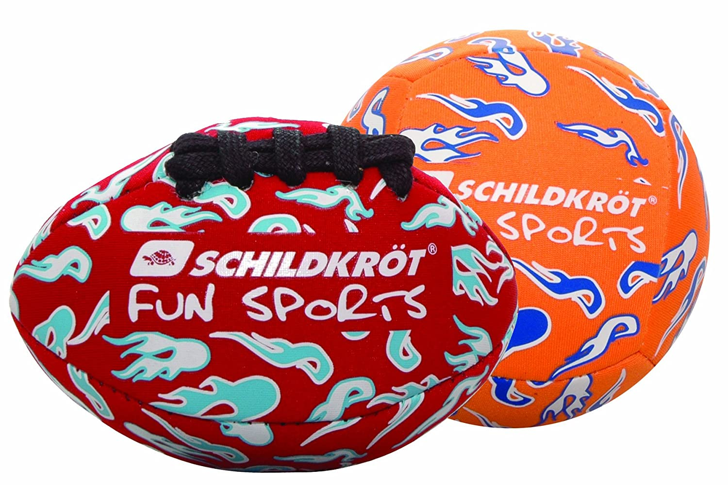 SCHILDKRÖT FUN SPORTS NEOPRENE Mini-Balls-Duo, (1 Volley rot/orange 9 cm Durchmesser Schildkröt Funsports 970080