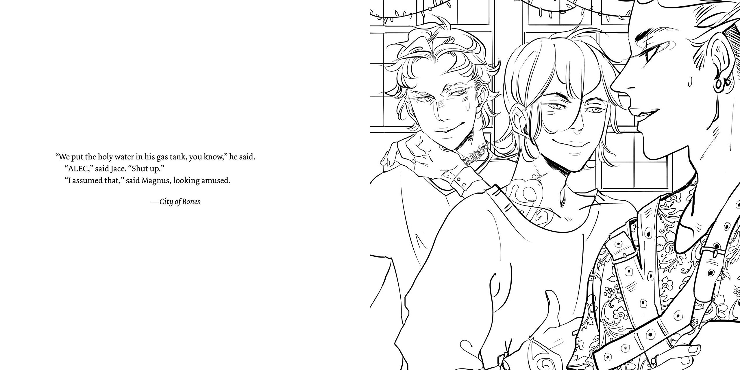 The Official Mortal Instruments Coloring Book Cassandra Clare Jean 9781481497565 Amazon Books