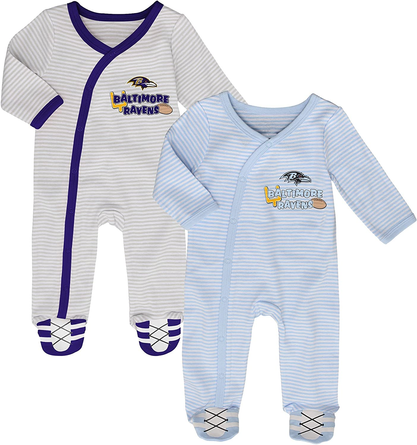 Baltimore Ravens Watching With Grandpa Baby Short Sleeve Bodysuit