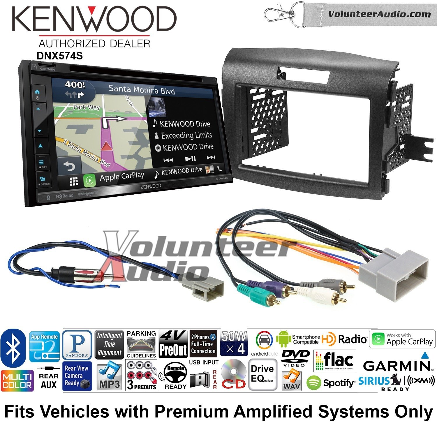with Wire Harness NEW 1990-1997 HONDA ACCORD Car Stereo Double DIN Dash Kit