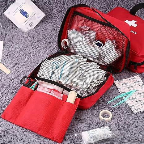 Lorenlli Bolsa de botiquín de Primeros Auxilios Bolsa de Mano Exterior de Emergencia, Bolsa de Mano de Supervivencia, Bolsa de Mano Multifuncional ...