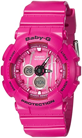 Amazon.com  Casio Women s Baby G BA120SP-4A Pink Rubber Quartz Sport ... 143ea99174c