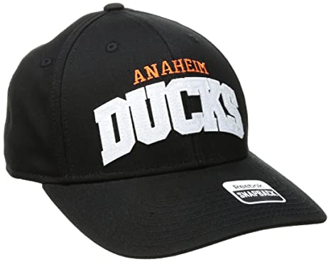 newest e0cb4 5e8b6 ... where to buy reebok nhl anaheim ducks womens sp17 sequenced structured  adjustable cap black one size