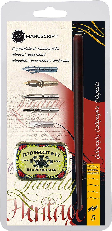Rotulador para manuscrito Leonardt Copperplate y Shadow Set