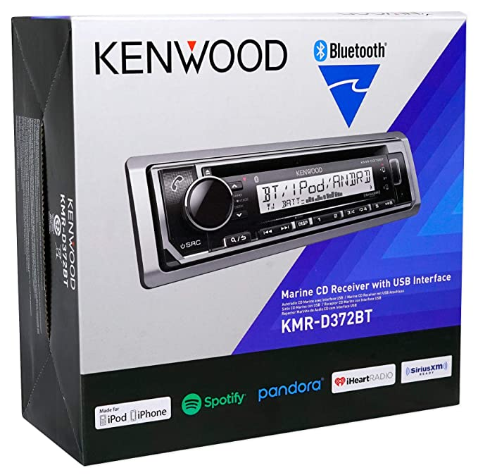 Amazon.com: Kenwood KMR-D372BT Marine Bluetooth CD Receiver Android/iPhone+(4) 6.5