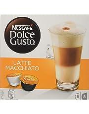 Nescafé Dolce Gusto Latte Macchiato Coffee Pods 16 Capsules (Pack of 3 - Total 48 Capsules, 24 Servings)