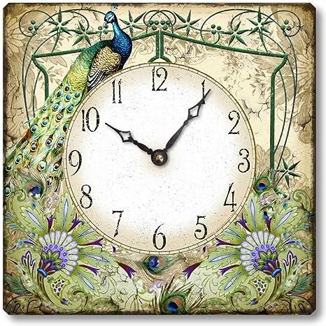 Amazon.com: Tema c7201 estilo antiguo 10.5 inch Reloj de ...