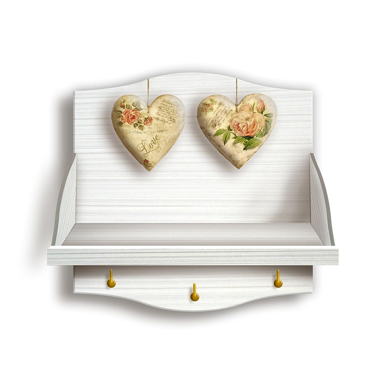 Portabarattoli Shabby Rose Heart Lupia