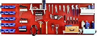 product image for Wall Control Master Workbench Storage Kit - Red Metal Pegboard