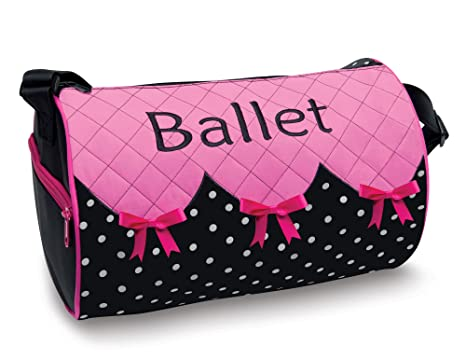 64d245c6ac Bows  n  Ballet Embroidered Small Duffel Bag with Quilted Top DansBagz by  Danshuz
