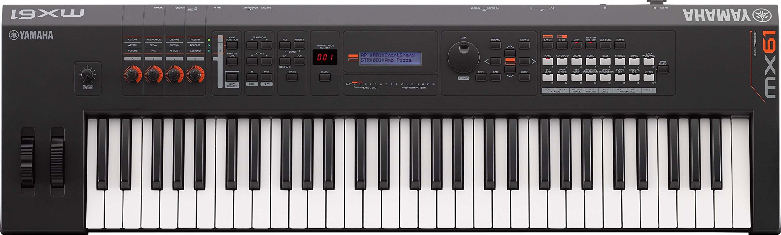 Yamaha MX61 Music Production Synthesizer
