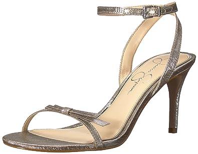 a10563128e2a01 Jessica Simpson Women s PURELLA Heeled Sandal Shimmer Silver 10 Medium US
