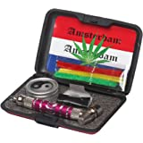 Metier Aluminum Smoking Pipe Combo! Get 3.5 Inch Long 1 Pc Smoking Pipe, 1 Set of Metal Screen, 1 Pc of Herb Storage Box and 3 Pcs of Pipe Cleaner- 1 Set