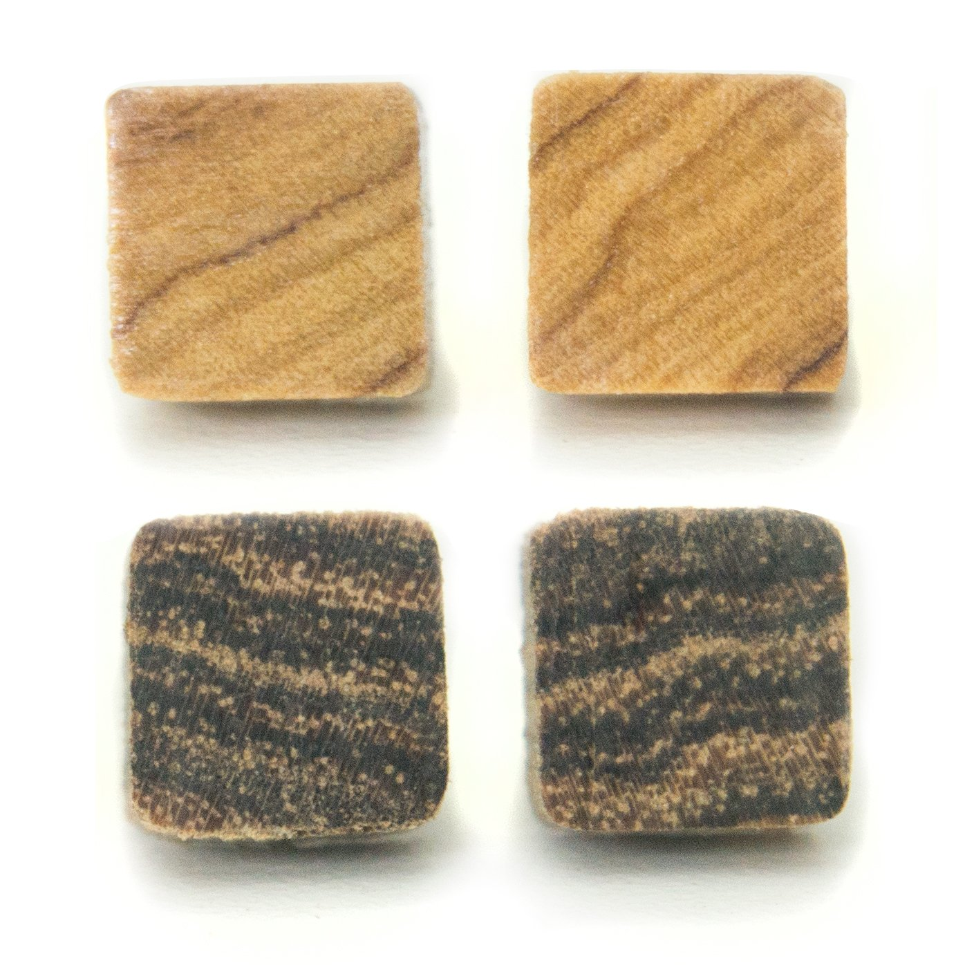 Hand Made Exotic Wood Earring Studs Set of 2 (wood)