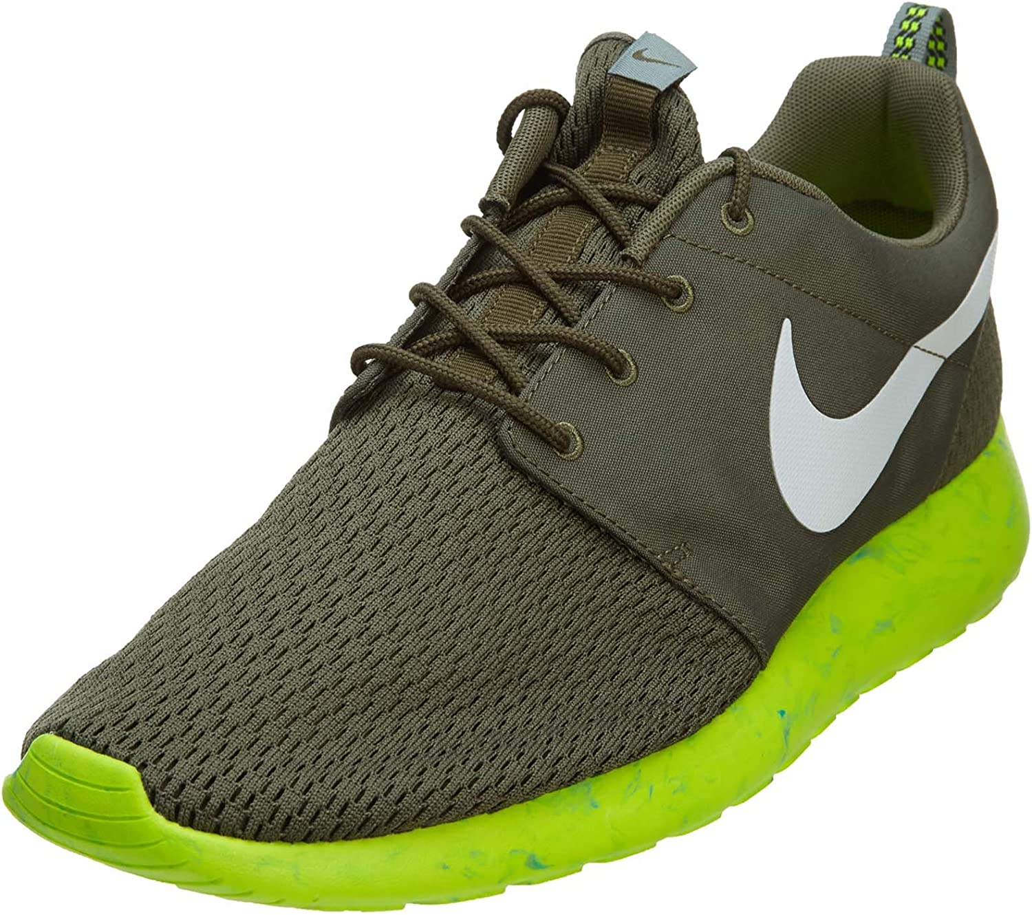 Nike Roshe Run M Men s Shoes Medium Olive White-MC Green-Volt 669985-200