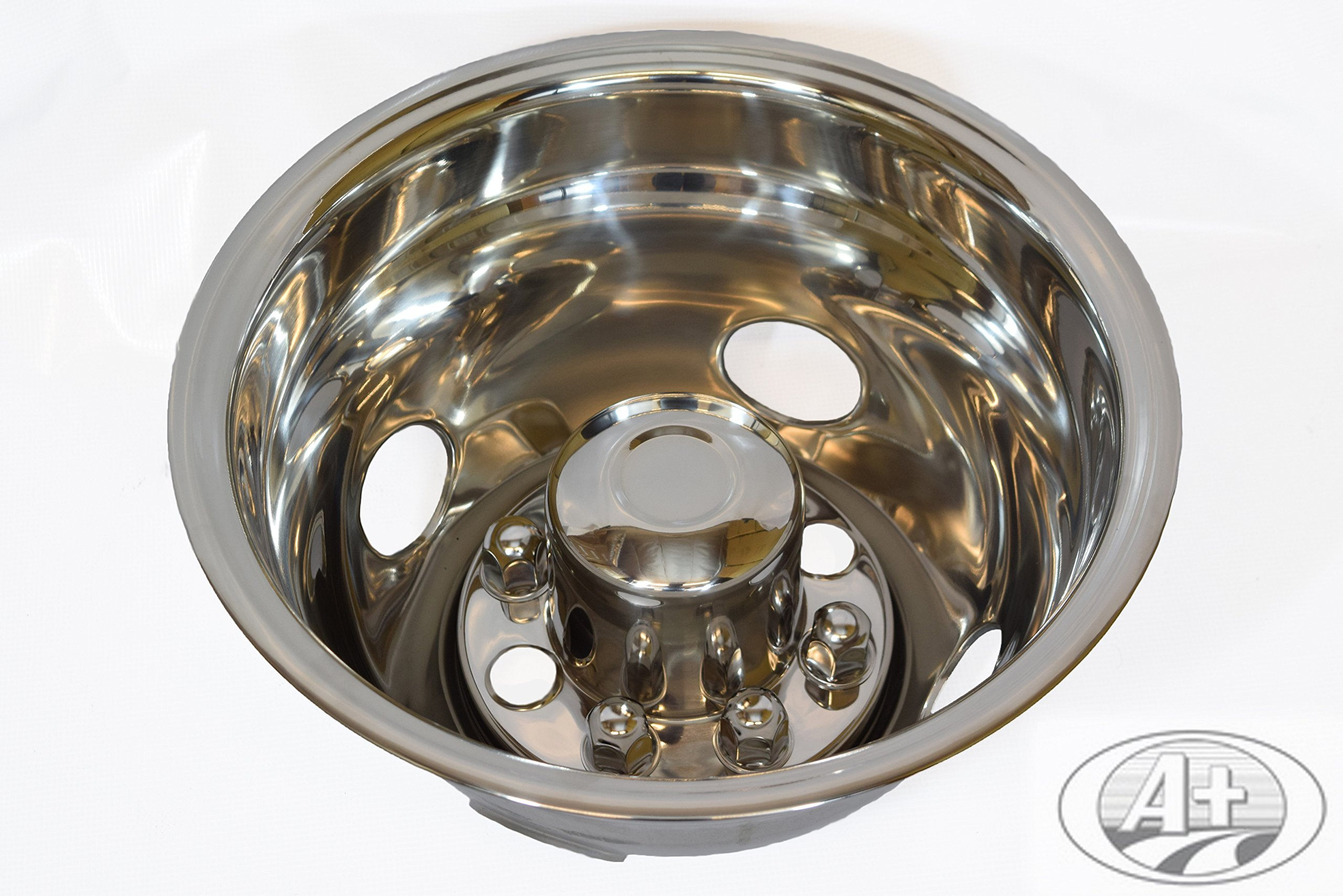 """16"""" GMC 3500 01~07 Stainless Steel Wheel Simulator Dually rim liner skin by A+ (Image #3)"""