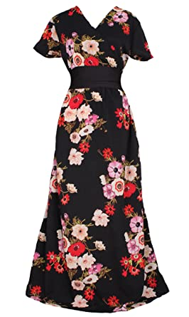 Floral Maxi Dress Beach Party Wedding Guest Summer Long Boho Plus ...