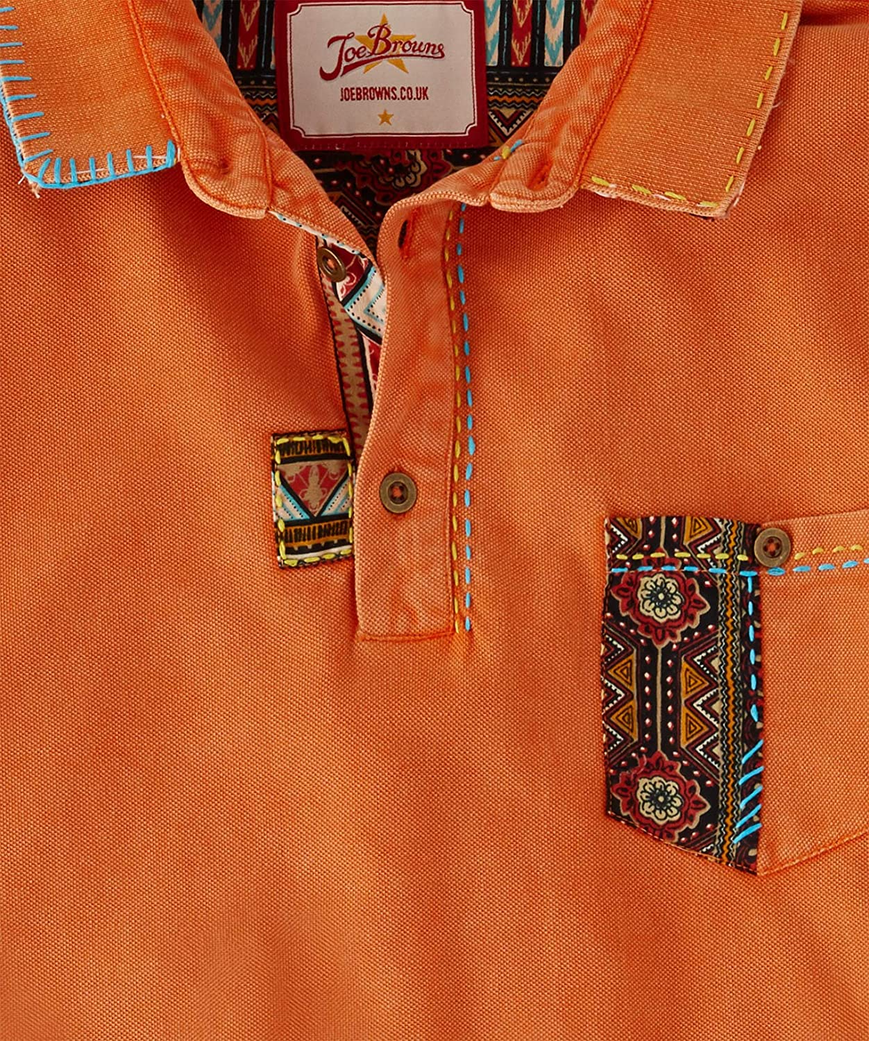 Joe Browns Mens Aztec Pocket Button Up Polo