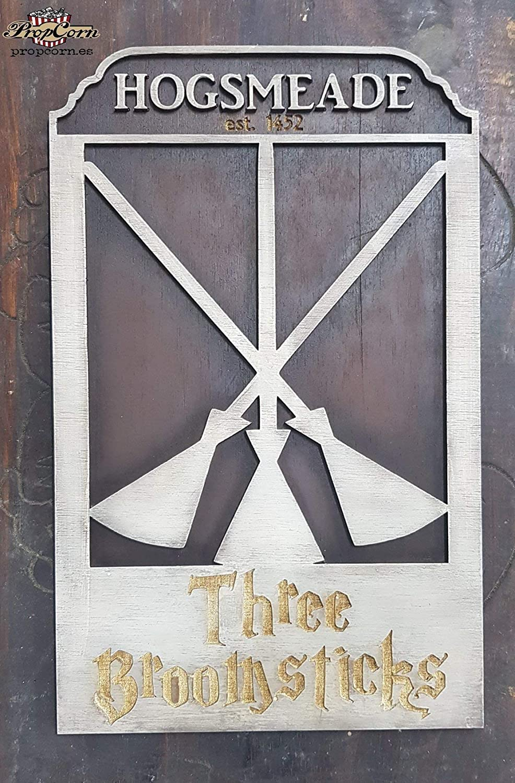 Cartel Harry Potter Las Tres Escobas hecho en madera ...