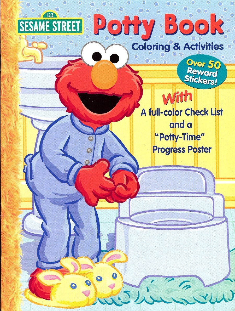 Sesame Street Potty Coloring Activities