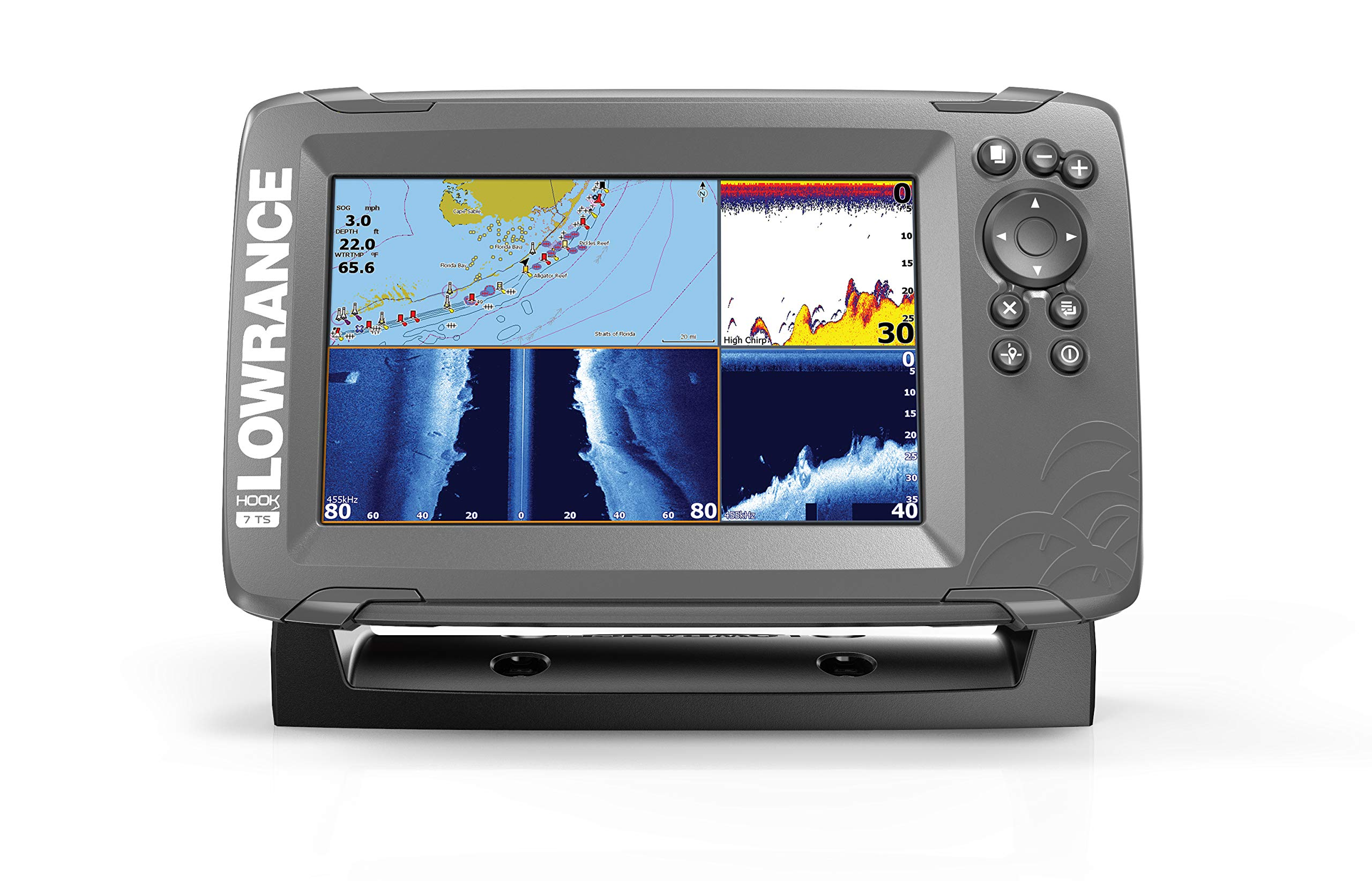 Lowrance HOOK2 7 - 7-inch Fish Finder with TripleShot Transducer and US / Canada Navionics+ Map Card …