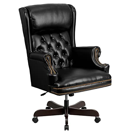 Incredible High Back Traditional Tufted Black Leather Executive Swivel Download Free Architecture Designs Osuribritishbridgeorg
