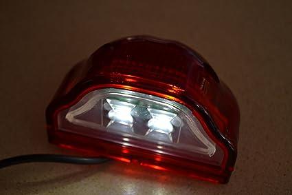 2 x 24 v led targa di immatricolazione faro posteriore illuminazione