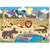 Melissa & Doug 19054 - Peg Puzzle in Legno - Safari
