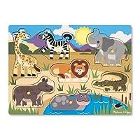 Melissa & Doug 19054 - Peg Puzzle in Legno - Safari