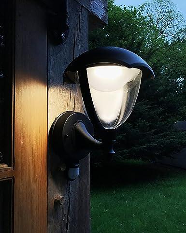 LightHub 6W LED IP44 Farolas Aplique ascendente con sensor de movimiento, iluminación exterior, Farol