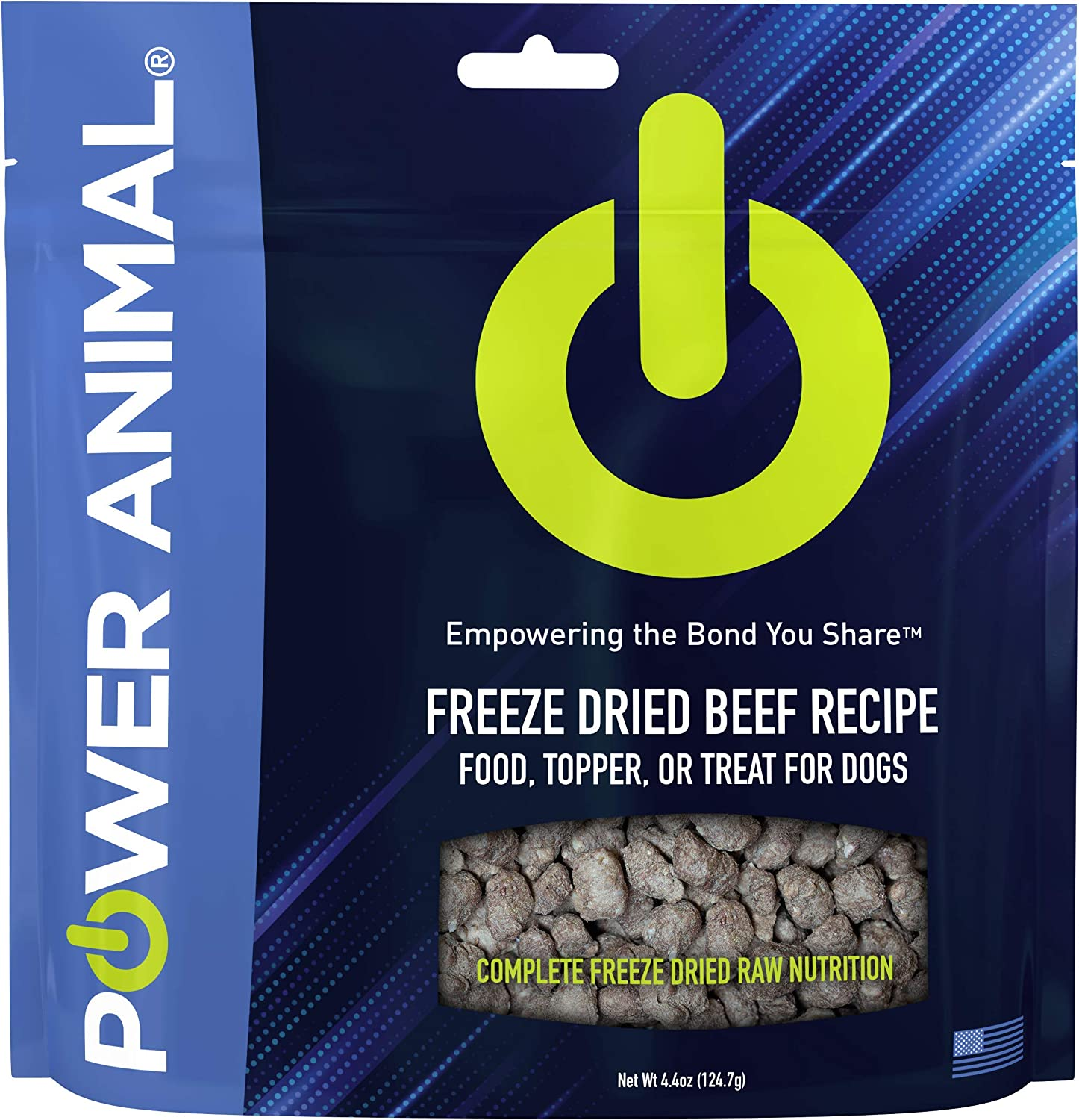 POWER Animal Freeze Dried Raw Dog Food, Dog Food Topper, Dog Treats - Premium Quality Ingredients, Real Meat First Ingredient, All Natural, Complete Nutrition, Humanely Sourced and Made in the USA